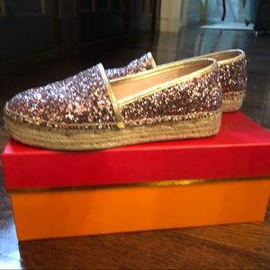 Kate Spade Glitter Espadrilles